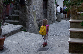 Girl In The Historic Centre