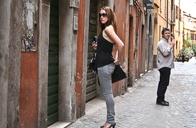 Young Woman on Via dei Cappellari