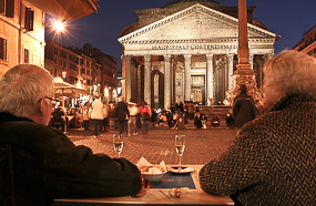 l pantheon night wine rome Best Bars in the World: Where to Have a Drink
