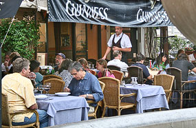 A restaurant on Campo de' Fiori