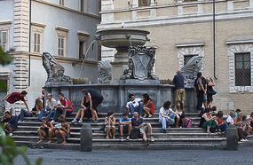 l trastevere fountain rome Trastevere Romanticised: False Promises?