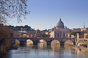 View of Vatican from the Tiber