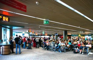 FCO Rome Fiumicino Airport crowdy waiting area at the peak of the holiday season in mid summer 3008x2000 300x195 Pope Weighs In On Body Scanners