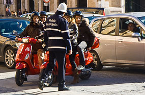 two red motorini e police Thoughts On Renting A Car In Rome