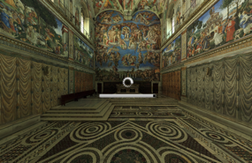 Screenshot of Sistine Chapel Virtual Tour