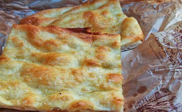 Pizza Bianca (Il Forno in Campo de' Fiori)